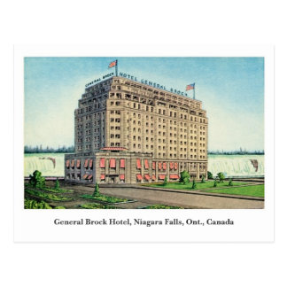 Vintage General Brock Hotel Niagara Canada Postcard