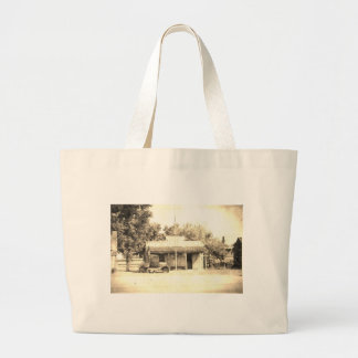 Vintage General Store with Antique Auto Jumbo Tote Bag