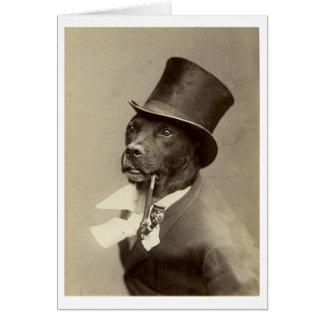 Vintage Gentleman Dog with Pipe, Card