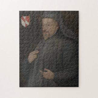 Vintage Geoffrey Chaucer Portrait Painting Jigsaw Puzzle