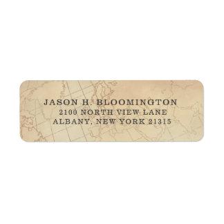 Vintage Geography Map | Return Address