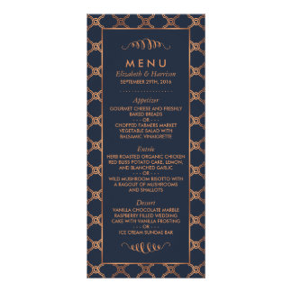 Vintage Geometric Art Deco Gatsby Wedding Menu