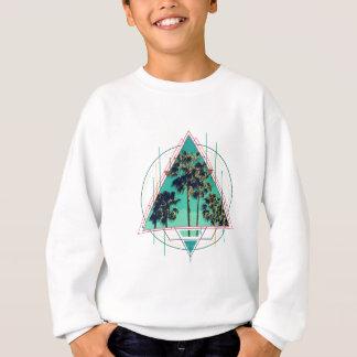 Vintage geometric calif summer palm beach sweatshirt