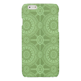 Vintage Geometric Circles in Bright Green