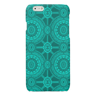 Vintage Geometric Circles in Green
