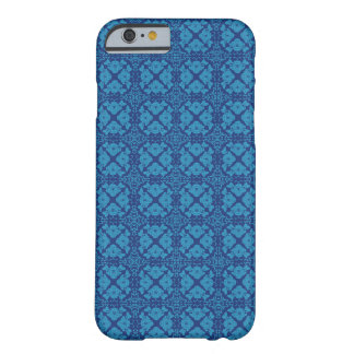 Vintage Geometric Floral Blue on Blue Barely There iPhone 6 Case