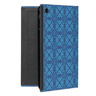 Vintage Geometric Floral Blue on Blue Cover For iPad Mini