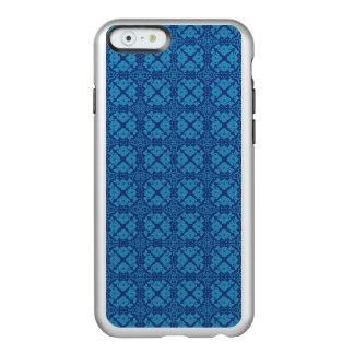Vintage Geometric Floral Blue on Blue Incipio Feather® Shine iPhone 6 Case