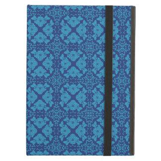 Vintage Geometric Floral Blue on Blue iPad Air Cover