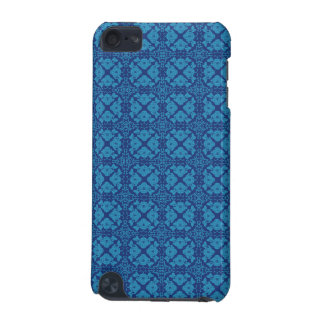 Vintage Geometric Floral Blue on Blue iPod Touch (5th Generation) Cover