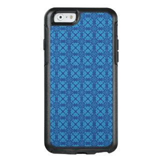 Vintage Geometric Floral Blue on Blue OtterBox iPhone 6/6s Case