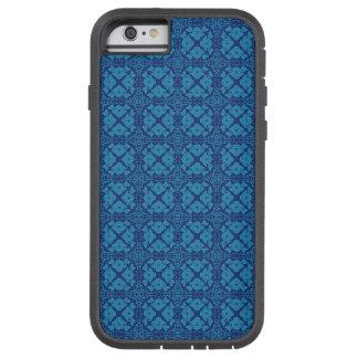 Vintage Geometric Floral Blue on Blue Tough Xtreme iPhone 6 Case