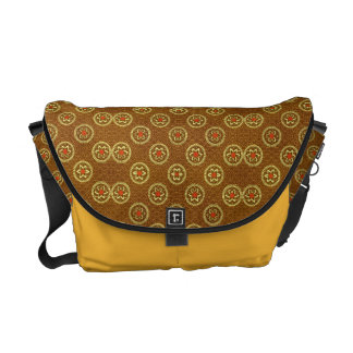 Vintage Geometric Floral in Gold Courier Bags