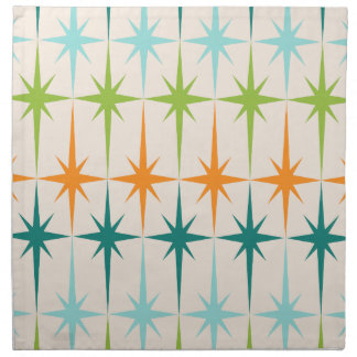 Vintage Geometric Starbursts Cloth Napkins