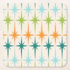 Vintage Geometric Starbursts Hard Paper Coasters