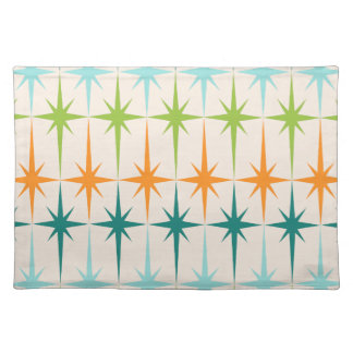 Vintage Geometric Starbursts Placemat