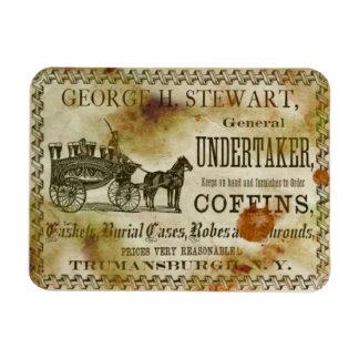 Vintage George Stewart Undertaker & Coffins Magnet