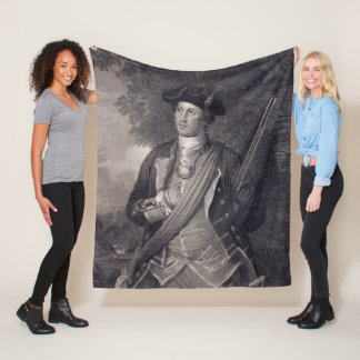 Vintage George Washington Portrait Fleece Blanket