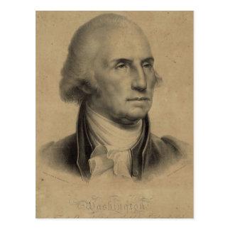 Vintage George Washington Portrait Illustration Postcard