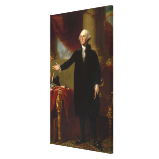Vintage George Washington Portrait Painting 2 Canvas Print