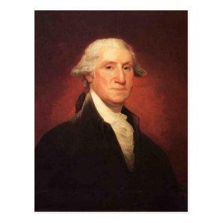Vintage George Washington Portrait Painting Postcard