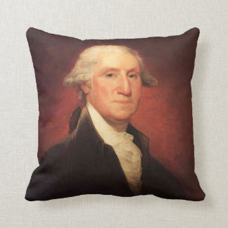 Vintage George Washington Portrait Painting Throw Pillow