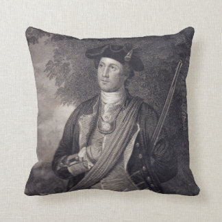 Vintage George Washington Portrait Throw Pillow