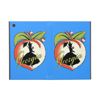Vintage Georgia Peach Silhouette Southern Bell Covers For iPad Mini