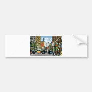 Vintage Georgia Street Scene Bumper Stickers