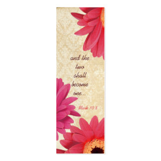 Vintage Gerber Coral Damask Fuchsia Wedding Tags Business Cards