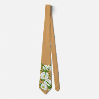 Vintage Gerber Daisy Flowers from a Spring Garden Tie