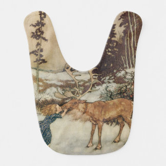 Vintage Gerda and the Reindeer by Edmund Dulac Bib