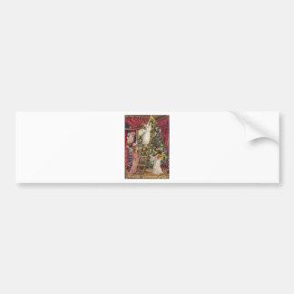 Vintage German Angels Christmas Victorian Art Bumper Sticker
