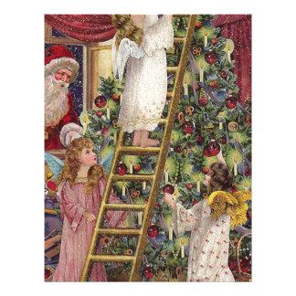 Vintage German Angels Christmas Victorian Art Letterhead