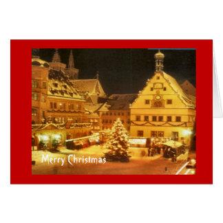 Vintage German Christmas market Card