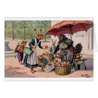 Vintage German Easter Egg Vendor Card