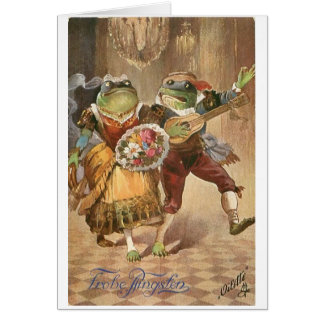 Vintage German Froggy Goes Courting, Card