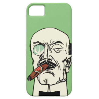 Vintage German Gentleman with Cigar and Monocle iPhone 5 Case