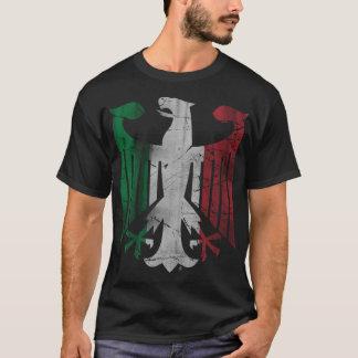 Vintage German Italian Family Heritage Eagle Flag T-Shirt