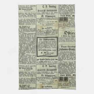 Vintage German newspaper towel