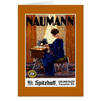 Vintage German sewing machine advertising Card