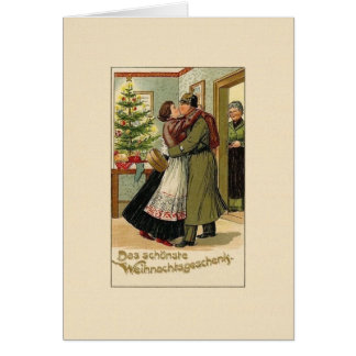 Vintage German Soldier Christmas Greeting Card
