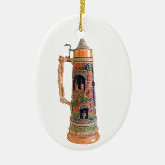 Vintage German Stein Ceramic Ornament