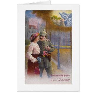 Vintage German WW1 Postcard Romance