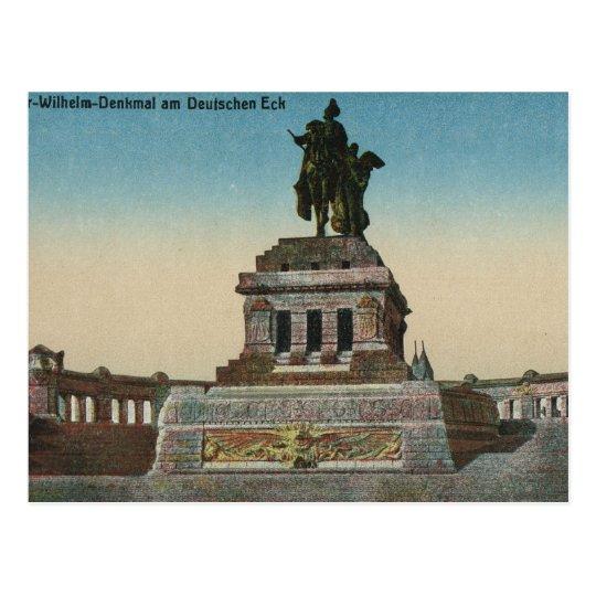 Vintage Germany, Koblenz, Deutches Eck, Monument Postcard