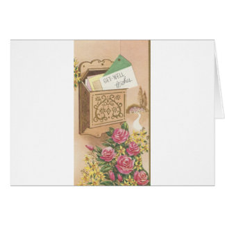 Vintage Get Well With Mailbox Card