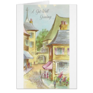 Vintage Get Well With Village Card