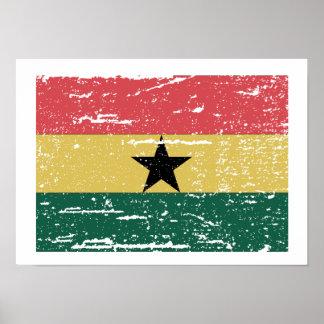 Vintage Ghana Flag Poster