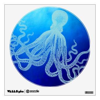 Vintage Giant Octopus in Deep Blue Ocean Wall Decal