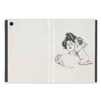 Vintage Gibson Girl Edwardian Woman Baby Cherub iPad Mini Cases